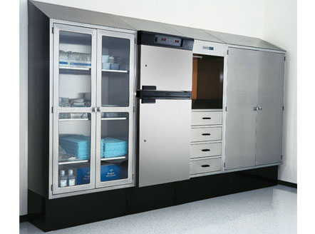 Warming cabinets can be integrated into total OR Storage Console solution