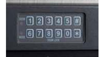 Electronic keypad provides security and compliance for warming cabinets