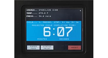 Small Steam Sterilizer control screen