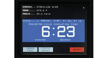 AMSCO Sterilizer Large countdown screen