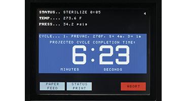 AMSCO Sterilizer Large countdown screen